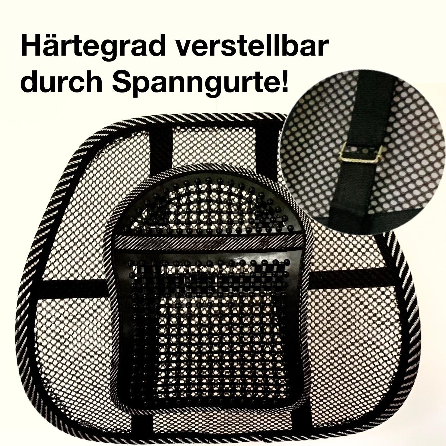 Lordosenstütze Pro 3.0 Schwarz-Weiß Ergonomisches Sitzen..